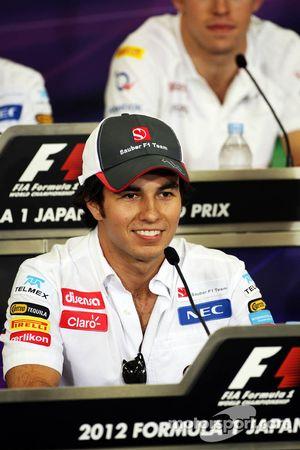 Sergio Perez, Sauber FIA basın toplantısı