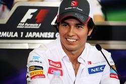 Sergio Pérez, Sauber en la Conferencia de prensa FIA