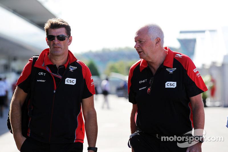 Graeme Lowdon, Marussia F1 Team Chief Executive Officer met John Booth, Marussia F1 Team Team Princi