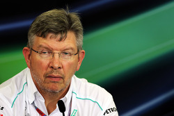 Ross Brawn, Mercedes AMG F1 Team Principal in the FIA Press Conference