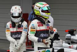 Kamui Kobayashi, Sauber y Sergio Pérez, Sauber en parc ferme