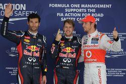 Pole: Kazanan Sebastian Vettel, Red Bull Racing, 2. Mark Webber, Red Bull Racing, 3. Jenson Button,