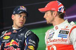 Sebastian Vettel, Red Bull Racing ve Jenson Button, McLaren Mercedes