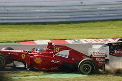 Unfall von Fernando Alonso, Ferrari zum Start des Rennens