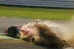 Fernando Alonso, Ferrari kecelakaan di awal lomba