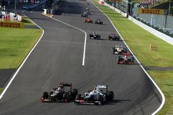Kimi Raikkonen, Lotus F1 y Sergio Pérez, Sauber