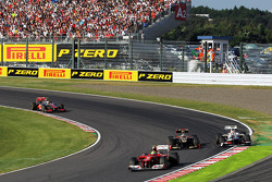 Felipe Massa, Ferrari, Kimi Raikkonen, Lotus F1 y Sergio Pérez, Sauber