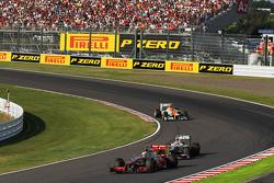 Lewis Hamilton, McLaren y Sergio Pérez, Sauber