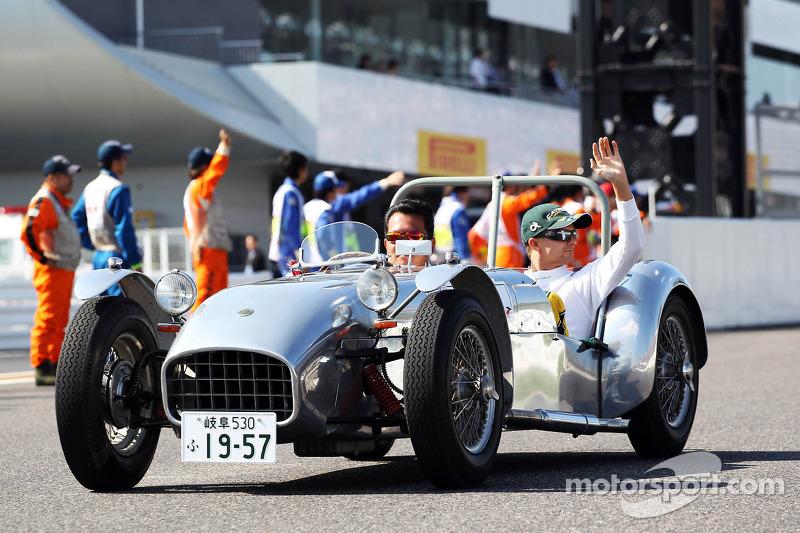 Heikki Kovalainen, Caterham on the drivers parade