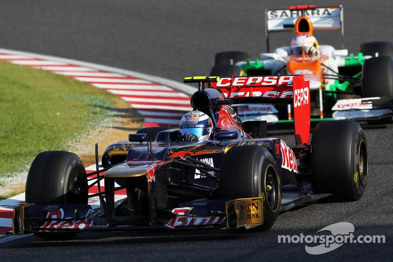 Jean-Eric Vergne, Scuderia Toro Rosso en Paul di Resta, Sahara Force India