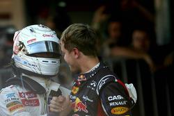 Kamui Kobayashi, Sauber F1 Team and Sebastian Vettel, Red Bull Racing