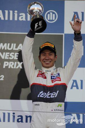 third place for Kamui Kobayashi, Sauber F1 Team