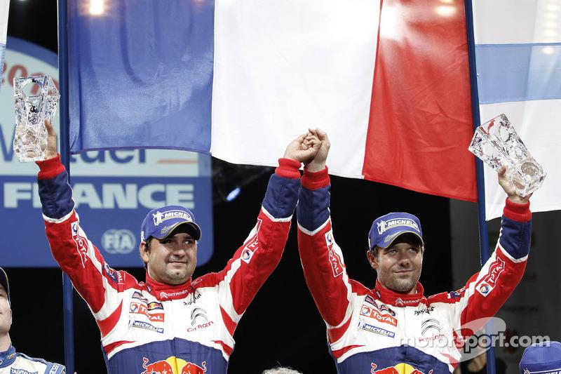 Los ganadores del rally y campeones del mundo de 2012 Sébastien Loeb y Daniel Elena, Citroën DS3 WRC, Citroën Tot