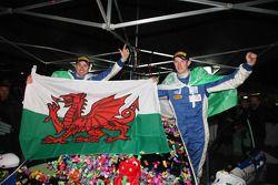 WRC Academy kampioenen Elfyn Evans en Andrew Edwards, Ford Fiesta R2