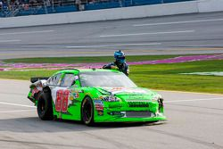 Dale Earnhardt Jr., Hendrick Motorsports Chevrolet gives a ride to Jimmie Johnson back to the pits