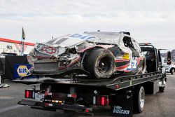 Wrecked car of Tony Stewart, Stewart-Haas Racing Chevrolet