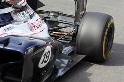 Valtteri Bottas, Williams Üçüncü Pilotu exhaust ve rear suspension detay