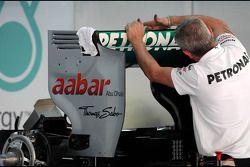 Mercedes GP mécanicien