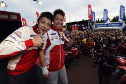 Valentino Rossi and Nicky Hayden