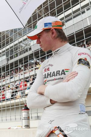Nico Hulkenberg, Sahara Force India F1 on the grid
