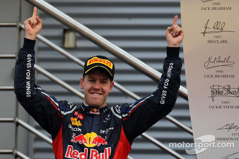 Podium: 1. Sebastian Vettel, Red Bull Racing