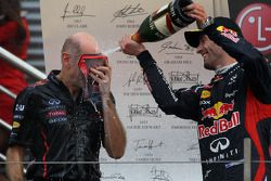 Adrian Newey, Red Bull Racing Chief Technical Officer with 2nd place Mark Webber, Red Bull Racing