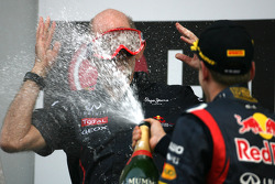 Adrian Newey, Red Bull Racing technical director and Sebastian Vettel, Red Bull Racing
