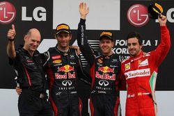 Adrian Newey con Sebastian Vettel, Red Bull Racing