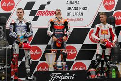 Podium: winner Dani Pedrosa, Repsol Honda Team, second place Jorge Lorenzo, Yamaha Factory Racing, t