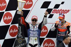 Podio: segundo lugar Jorge Lorenzo, del Yamaha Factory Racing