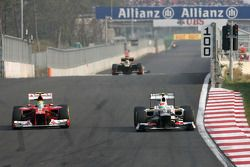 Felipe Massa, Scuderia Ferrari y Sergio Pérez, Sauber F1 Team
