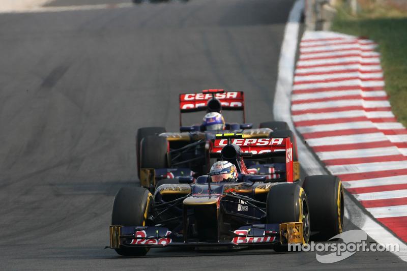 Jean-Eric Vergne, Scuderia Toro Rosso  en Daniel Ricciardo, Scuderia Toro Rosso