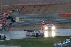 Trouble for #2 Belgian Audi Club Team WRT Audi R8 LMS ultra: Edward Sandström, Laurens Vanthoor, Marco Bonanomi