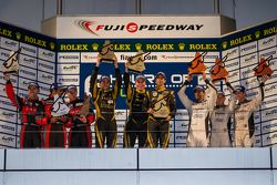 LMP1 Podium: First place Nicolas Prost, Neel Jani; Second place David Brabham, Karun Chandhok, Peter