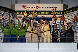 LMGTE Am Podium: First place Patrick Bornhauser, Julien Canal, Pedro Lamy; Second place Tracy Krohn, Nic Jonsson, Michele Rugolo; Third place Christian Ried, Gianluca Roda, Paolo Ruberti