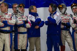 Toyota principals and pit crew anxiously watch