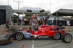 Pit stop practice for #46 Thiriet by TDS Racing Oreca Nissan: Mathias Beche, Pierre Thiriet, Christophe Tinseau