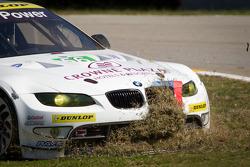 #56 BMW Team RLL E92 BMW M3: Dirk Muller, Uwe Alzen, Jonathan Summerton goes off-track