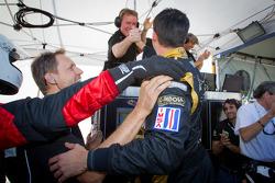 P1 and overall pole winner Neel Jani celebrates