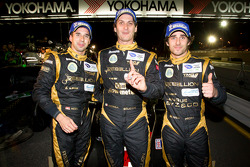 P1 and overall winners Neel Jani, Andrea Belicchi and Nicolas Prost celebrate