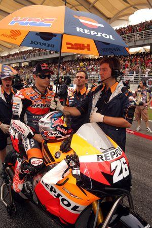 Дани Педроса. ГП Малайзии, воскресенье, перед гонкой.