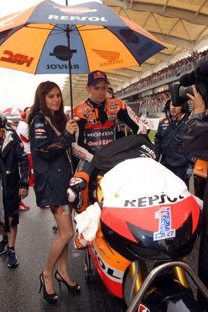 Кейси Стоунер. ГП Малайзии, воскресенье, перед гонкой.