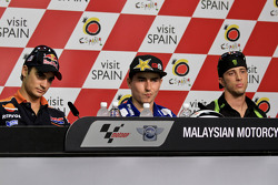 Pole winner Jorge Lorenzo, Yamaha Factory Racing, second place Dani Pedrosa, Repsol Honda Team, thir