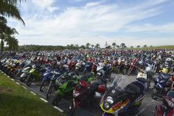 Filas de motos