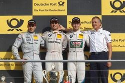 Podium: second place Gary Paffett, Team HWA AMG Mercedes, AMG Mercedes C-Coupe, winner and 2012 cham