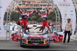 Winnaars Mikko Hirvonen en Jarmo Lehtinen, Citroën DS3 WRC, Citroën Total World Rally Team
