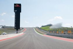 Una vista de la pista