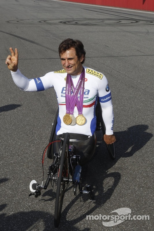 Alex Zanardi, with his hand bike