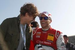 Tim Bendzko en Timo Scheider, Audi Sport Team ABT Sportsline Audi A5 DTM