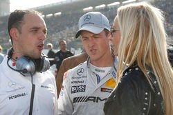 Ralf Schumacher, Team HWA AMG Mercedes, AMG Mercedes C-Coupe with Cora Schumacher, wife of Ralf Schu